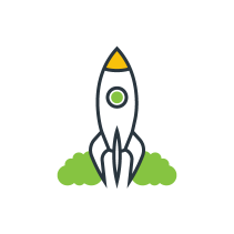 rocketship graphic